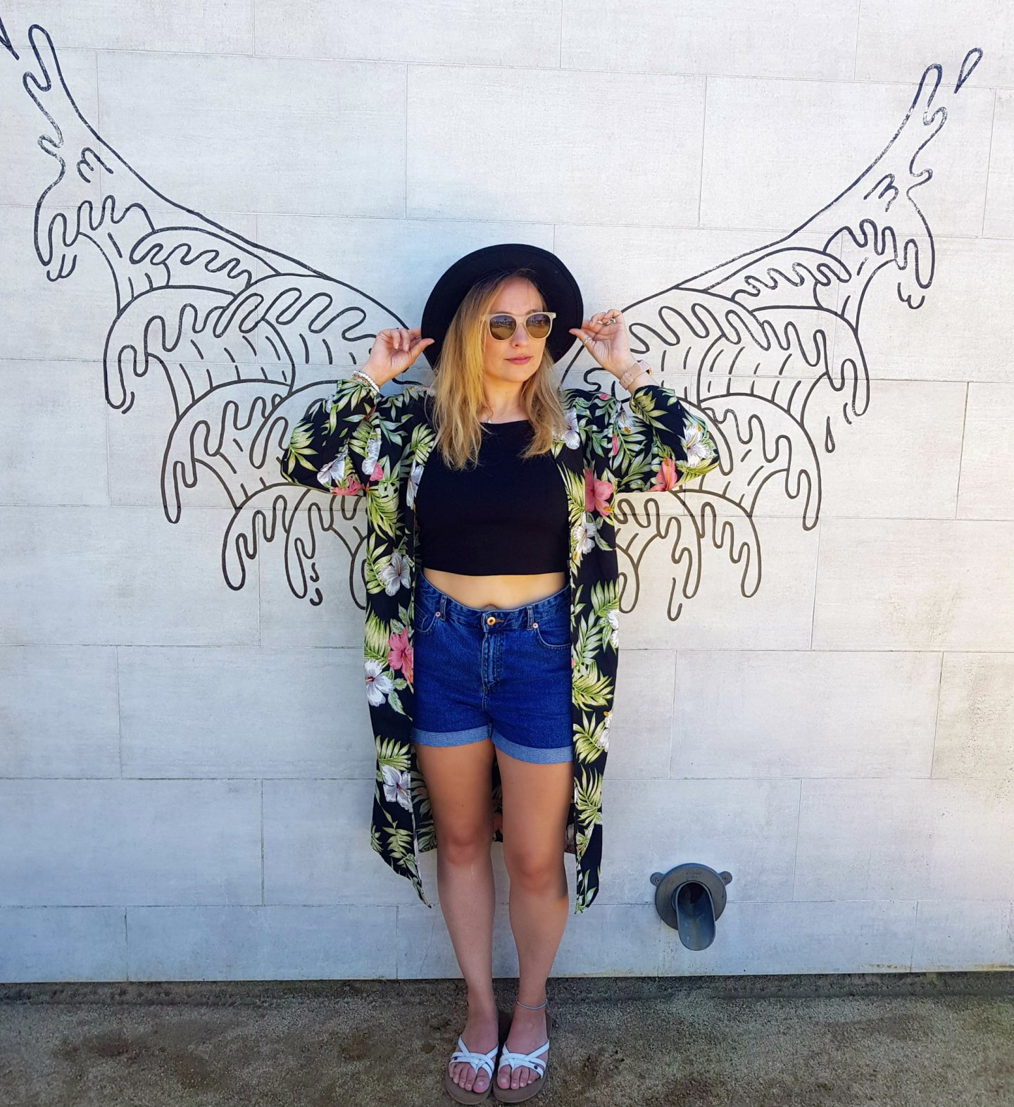 Travel bloggers with angel wings California