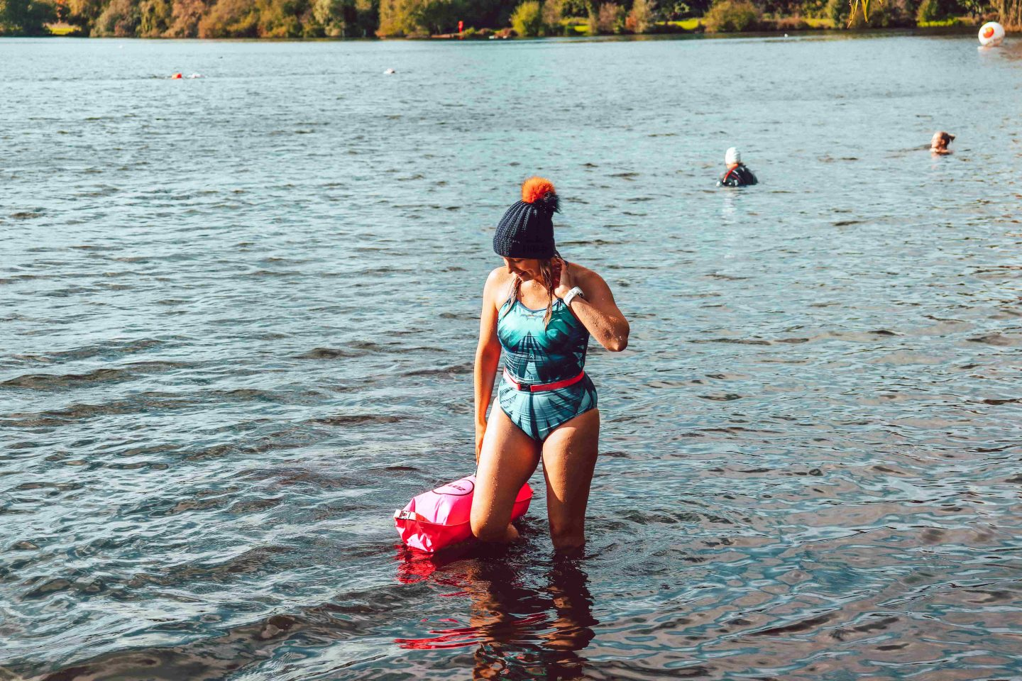bloggers swimmer cold water
